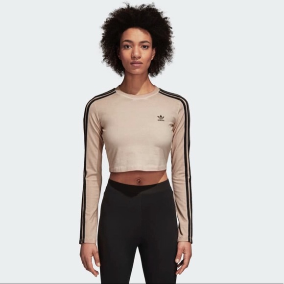 Großer Diskont adidas Originals 3 Stripe Long Sleeve Crop